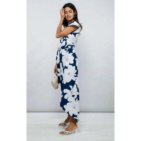 Dancing Leopard Cayenne Dress Navy Bloom