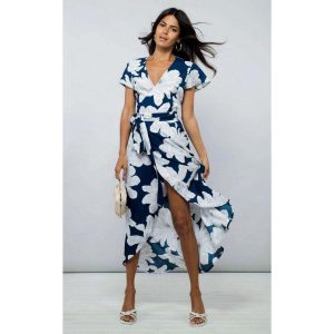 Dancing Leopard Cayenne Dress Navy Bloom