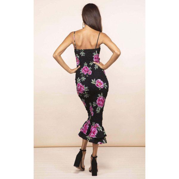 Dancing Leopard Luiza Sheering Dress Pink Peony