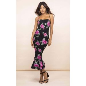 Dancing Leopard Luiza Sheering Dress Pink Peony