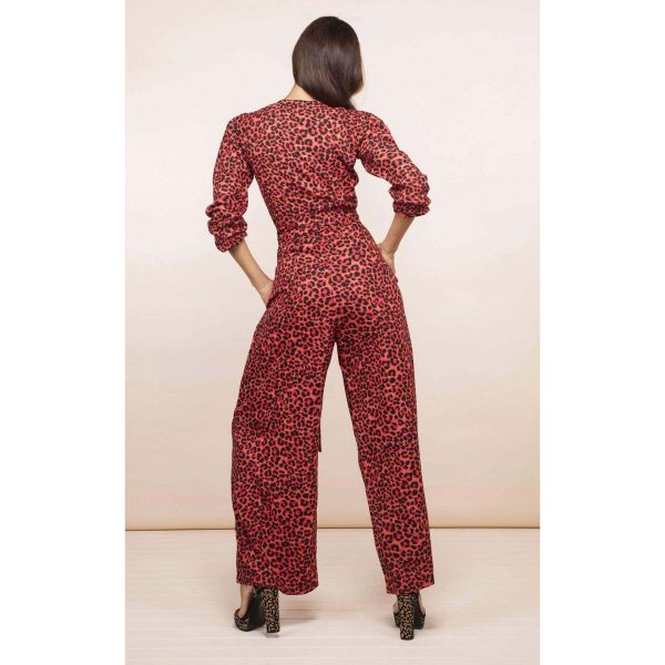 Dancing Leopard Mossie Jumpsuit Ruby Red Leopard