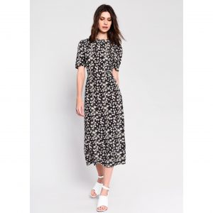 Daisy Print Midi Dress