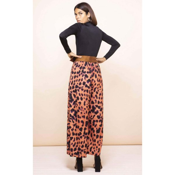 Dancing Leopard Joey Palazzo Trousers Pleorange