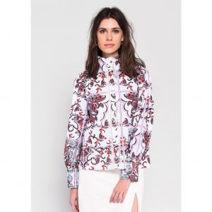 Paisley Print lace Shirt