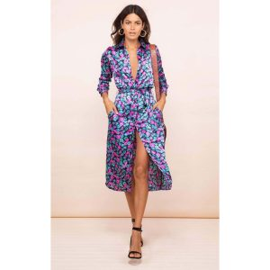Dancing Leopard Hadibe Dress Purple Floral