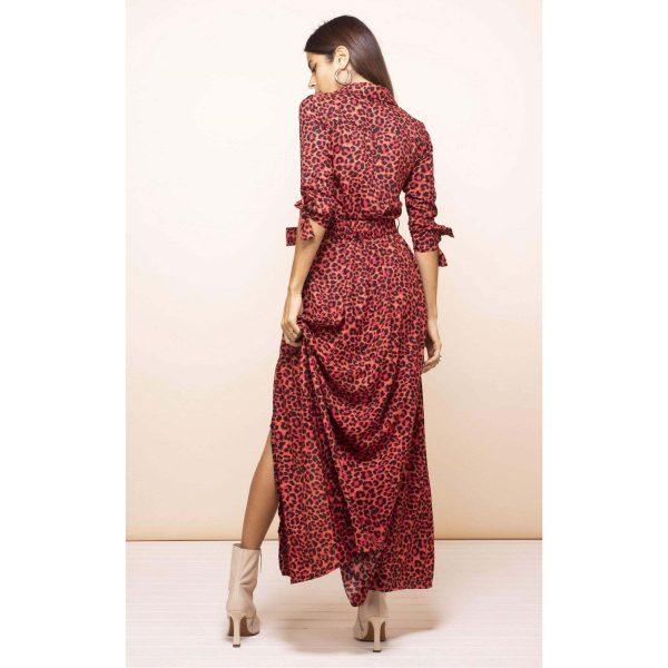 Dancing Leopard Dove Dress Ruby Red Leopard