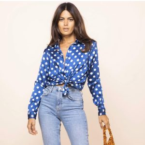 Dancing Leopard Nevada Shirt Navy Dotty