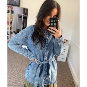 Denim Belted Jacket