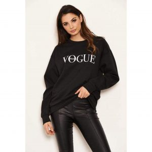 Vogue Sweatshirt Black