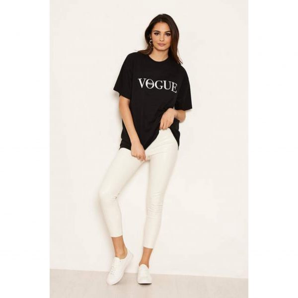 Vogue T-Shirt White Black