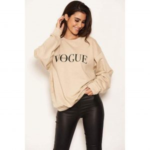Vogue Sweatshirt Stone