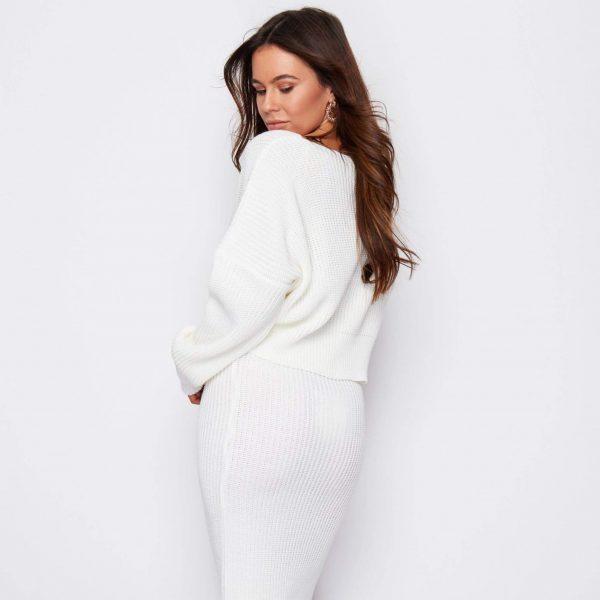 Cream Short Knit Cardigan