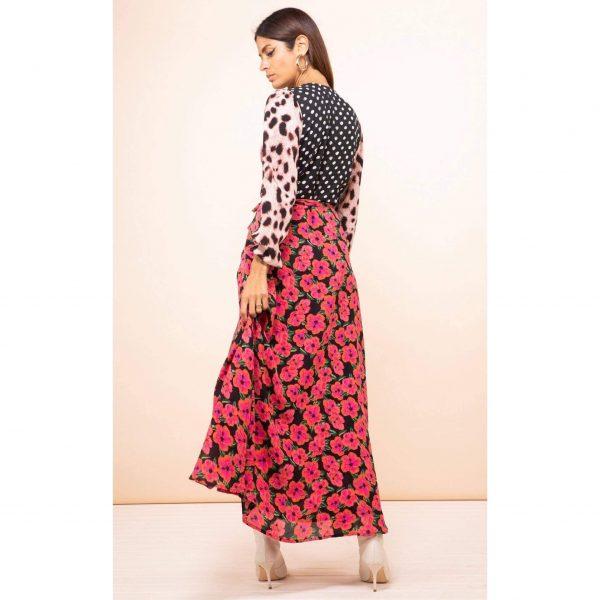 Dancing Leopard Jagger Maxi in Pink Hibiscus Mix Print