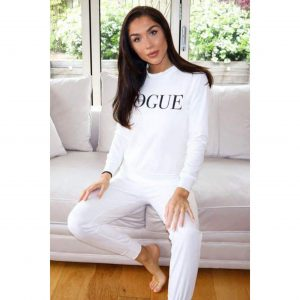 White Vogue Loungesuit