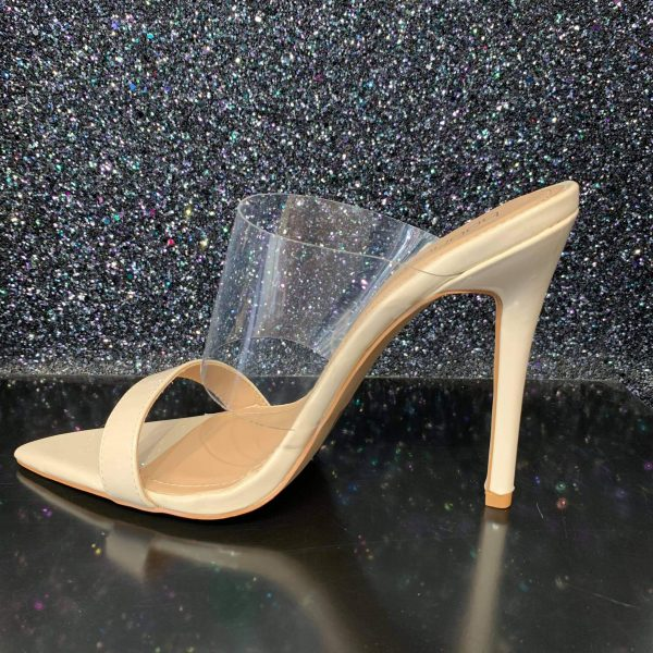 Nude and Perspex High Heels