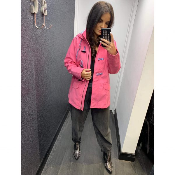 Pink Hooded Rain Jacket