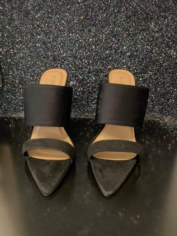 Black Strappy High Sandals