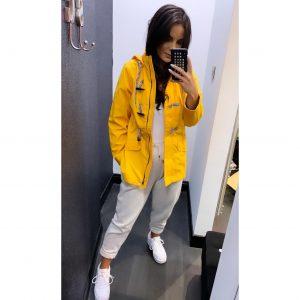 Mustard Hooded Rain Jacket