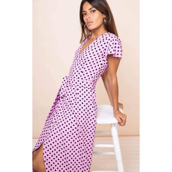 Dancing Leopard Cayenne Dress Pink Dotty