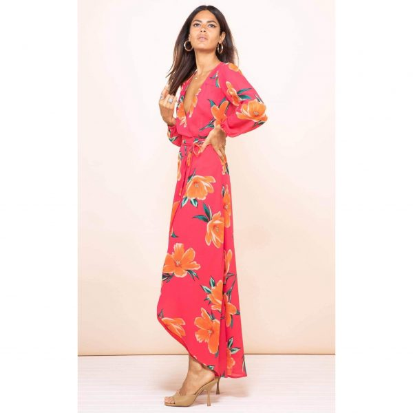 Dancing Leopard Jagger Maxi Red Base Tulip