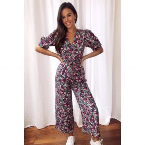 Purple Floral Jumpsuit