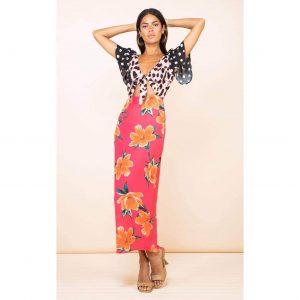 Dancing Leopard La Palma Maxi Dress Red Tulip Mix