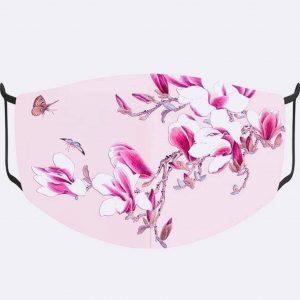 Pink Floral Print Mask