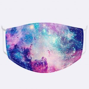 Blue Galaxy Print Mask