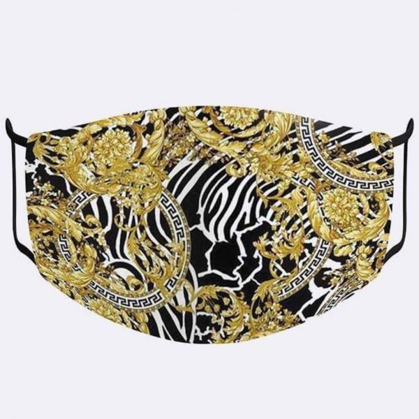 Roman Abstract Floral Print Mask