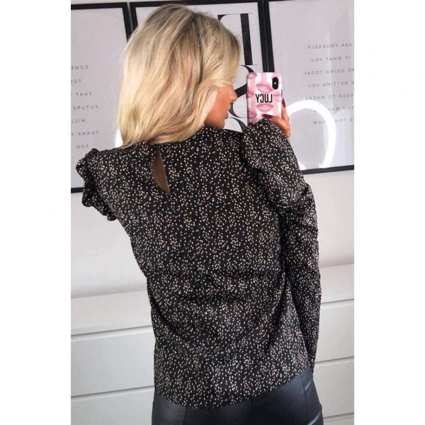 Black Ditsy Floral Top