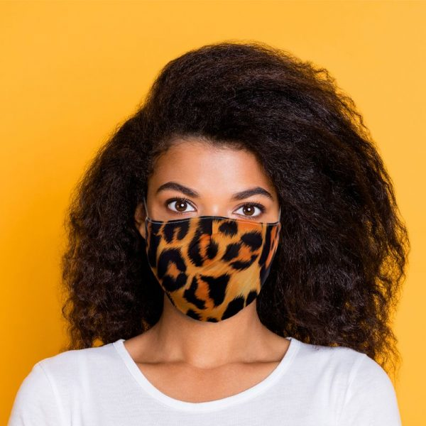 Leopard Print Double Layered Mask