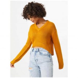 Mustard Cropped Jumper