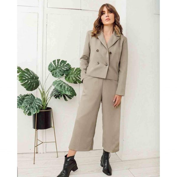 Olive Trouser Suit