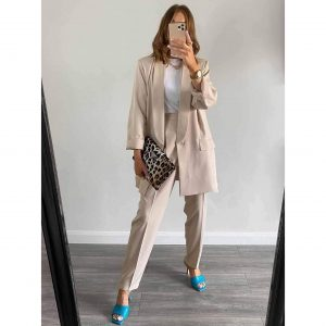 Beige Trouser Suit