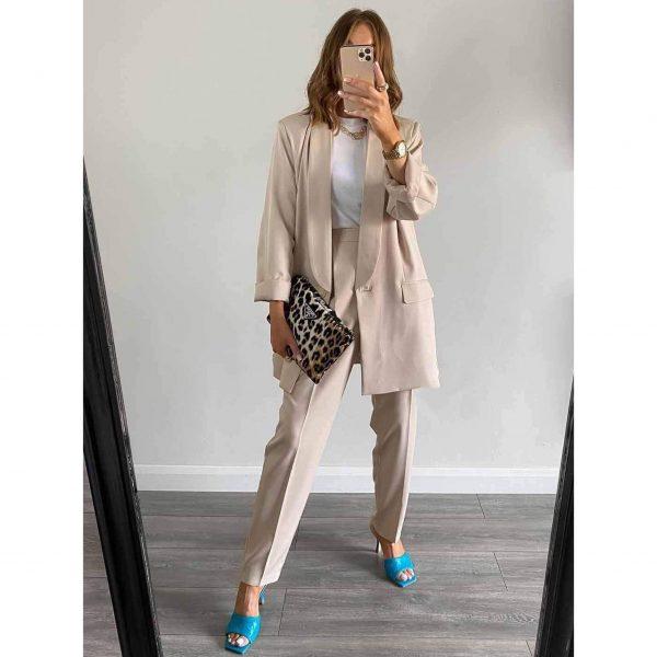 Beige Trouser Suit