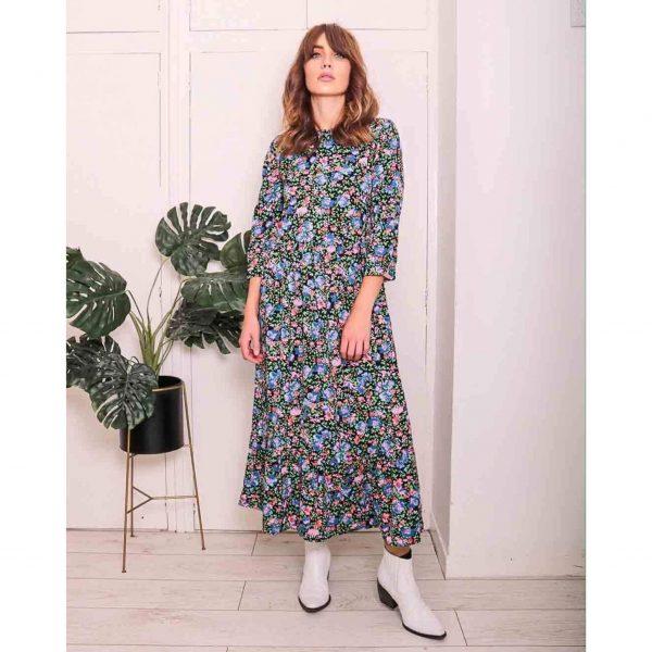 Floral Midi Smock Dress