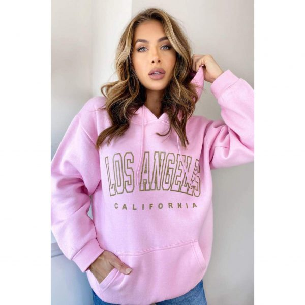 """Baby Pink """"Los Angeles"""" Hoody"""
