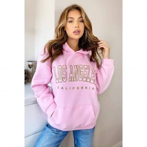 "Baby Pink ""Los Angeles"" Hoody"