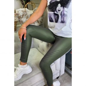 Khaki Biker Leggings