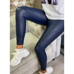 Navy Biker Leggings