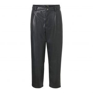 Leather Look Ankle Grazer Trousers