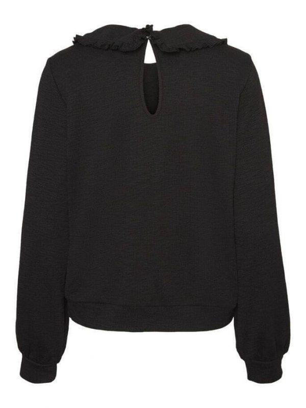 Black Peter Pan Collar Sweater