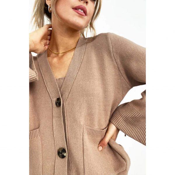 Camel Knit Cardigan