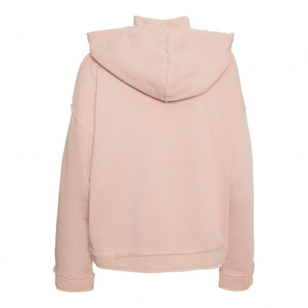 Pink High Neck Hoody