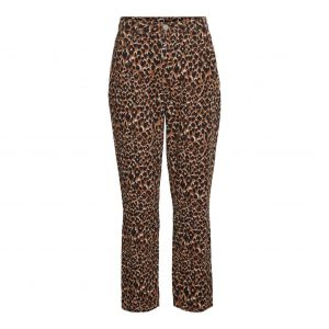 Leopard Denim Jeans
