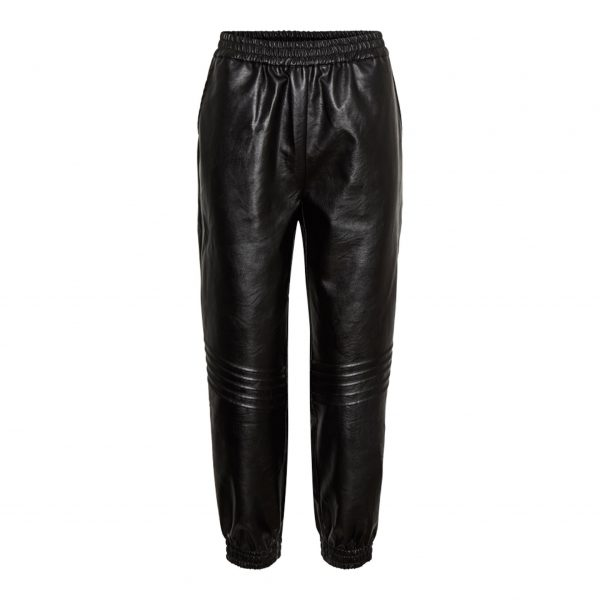 Leather Look Biker Joggers