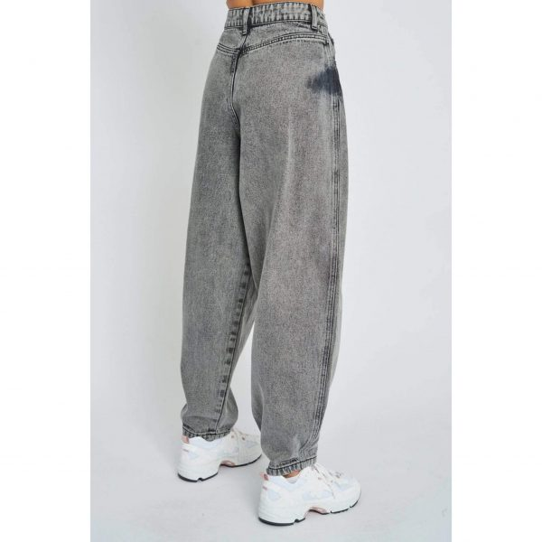 Grey Baggy Bubble Jeans