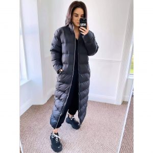 Long Black Puffa Coat