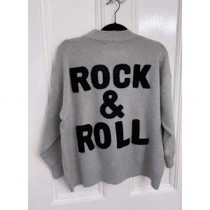Grey Rock and Roll Sweatshirt