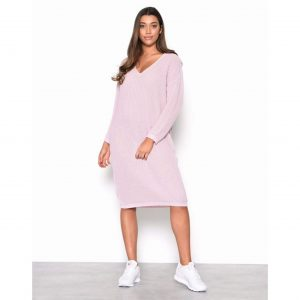 Light Pink Knit Oversized Jumper Dress